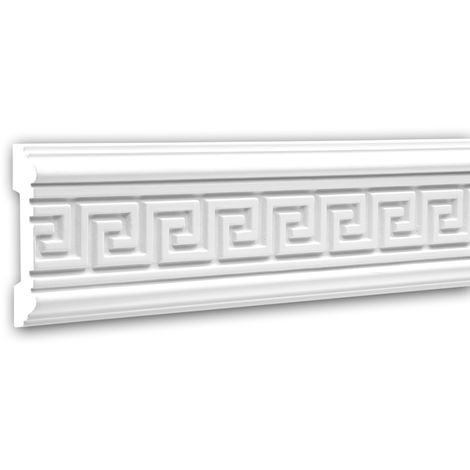 Moldura para pared 151311 Profhome Perfil de estuco Moldura decorativa Moldura decorativa pared diseño atemporal clásico blanco 2 m