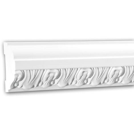 Moldura para pared 151313 Profhome Perfil de estuco Moldura decorativa Moldura decorativa pared diseño atemporal clásico blanco 2 m