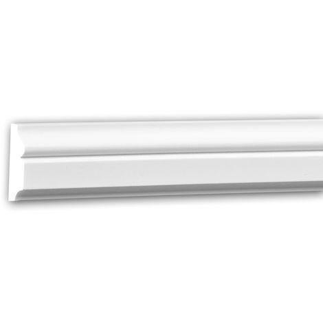 Moldura para pared 151323 Profhome Perfil de estuco Moldura decorativa Moldura decorativa pared estilo Neoclasicismo blanco 2 m