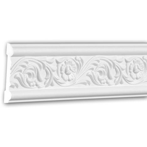 Moldura para pared 151337 Profhome Perfil de estuco Moldura decorativa Moldura decorativa pared estilo Rócoco Barroco blanco 2 m
