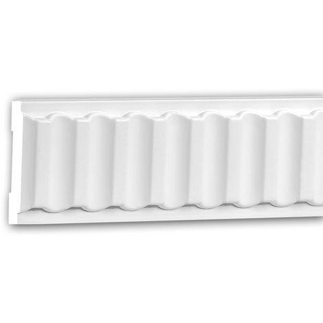 Moldura para pared 151338 Profhome Perfil de estuco Moldura decorativa Moldura decorativa pared estilo Neoclasicismo blanco 2 m