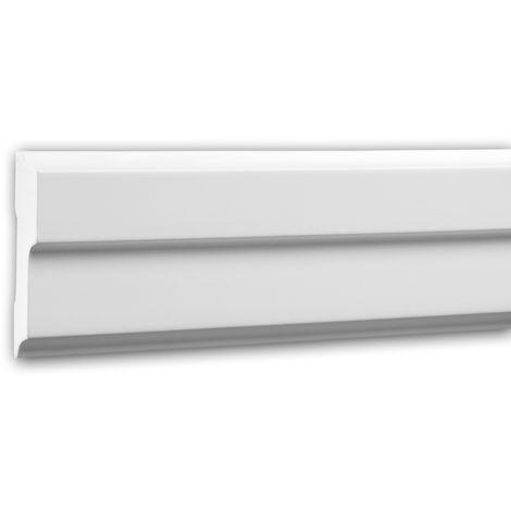 Moldura para pared 151342 Profhome Perfil de estuco Moldura decorativa Moldura decorativa pared diseño moderno blanco 2 m