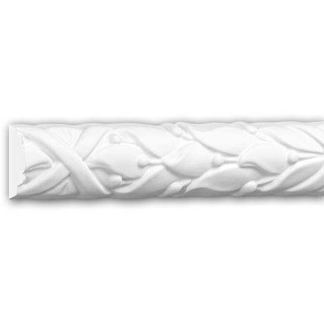 Moldura para pared 151352 Profhome Perfil de estuco Moldura decorativa Moldura decorativa pared estilo Rócoco Barroco blanco 2 m