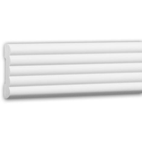 Moldura para pared 151356 Profhome Perfil de estuco Moldura decorativa Moldura friso diseño moderno blanco 2 m