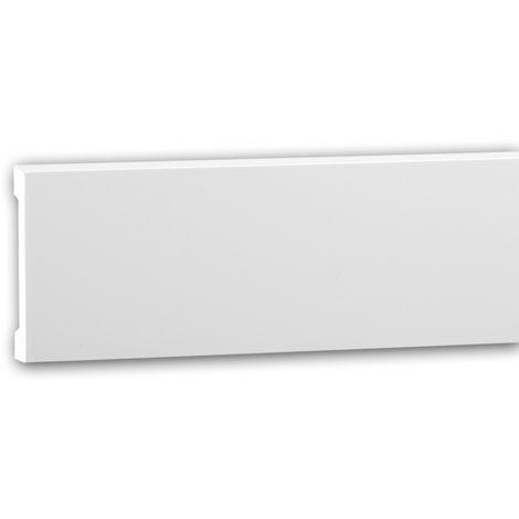 Moldura para pared 151363 Profhome Perfil de estuco Moldura decorativa Moldura friso diseño moderno blanco 2 m