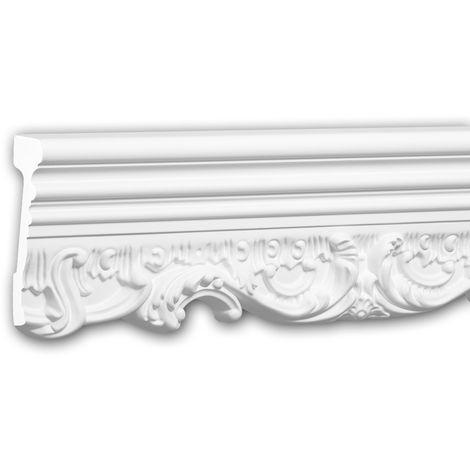 Moldura para pared 151368 Profhome Perfil de estuco Moldura decorativa Moldura friso estilo Neorrenacimiento blanco 2 m