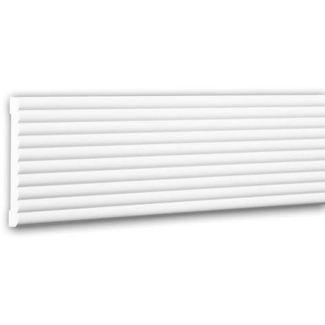 Moldura para pared 151374 Profhome Perfil de estuco Moldura decorativa Moldura friso diseño moderno blanco 2 m