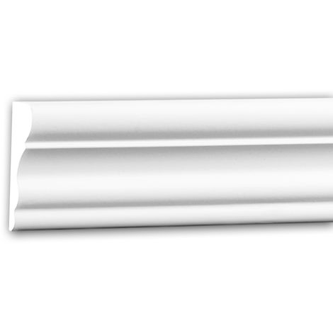 Moldura para pared 151377 Profhome Perfil de estuco Moldura decorativa Moldura friso estilo Neoclasicismo blanco 2 m