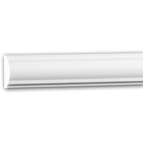 Moldura para pared 151379 Profhome Perfil de estuco Moldura decorativa Moldura friso estilo Neoclasicismo blanco 2 m
