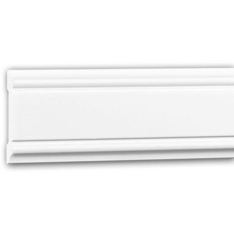 Moldura para pared 151384 Profhome Perfil de estuco Moldura decorativa Moldura friso estilo Neoclasicismo blanco 2 m