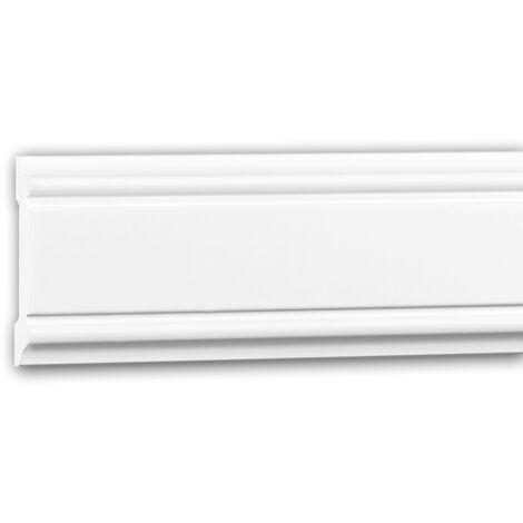 Moldura para pared 151384F Profhome Perfil de estuco Moldura flexible Moldura decorativa estilo Neoclasicismo blanco 2 m