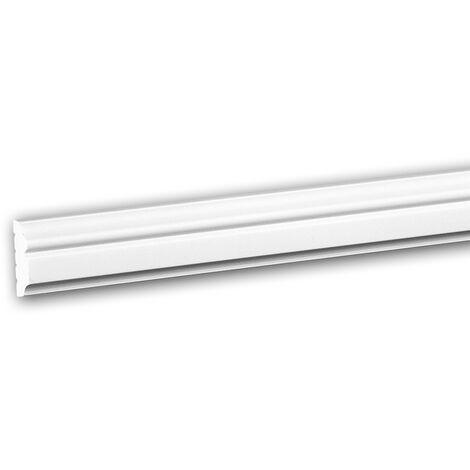 Moldura para pared 651323 Profhome Perfil de estuco Moldura decorativa Moldura friso estilo Neoclasicismo blanco 2 m