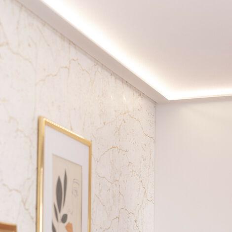 Moldura Zócalo para Tira LED 2m Modern Blanco - Blanco