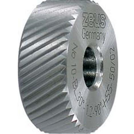 Molette, forme BL spirale à gauche (30°), Molette d1 x Larg. : b x perçage d2 : 20 x 8 x 6 mm, Graduation 0,6 mm