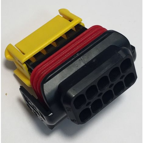 Molex 98788-1101 Connector automotive 10P female - pitch 4,25mm - black/yellow/red