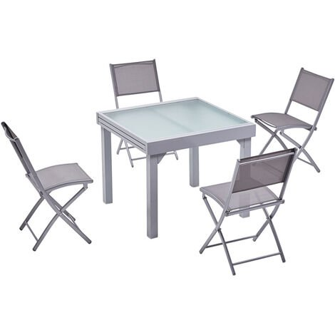 molvina 4 table de jardin extensible en aluminium 8. Black Bedroom Furniture Sets. Home Design Ideas