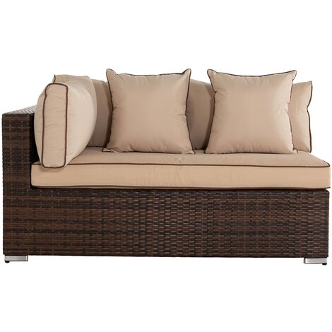 Monaco Rectangular Right As You Sit Rattan Garden Sofa (various colours)