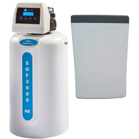 Monarch SOF3000HE Compact Space Saver Electric Water Softener Separate Salt Tank