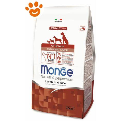 Monge Dog All Breeds Puppy & Junior Agnello e Riso