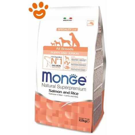 Monge Dog All Breeds Puppy & Junior Salmone e Riso