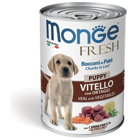 Monge Fresh Patè e Bocconciniper Cane in Vaschetta da 100 gr