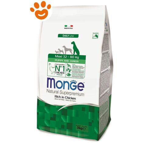 Monge Natural Superpremium per Cane Puppy & Junior Maxi Ricco in Pollo