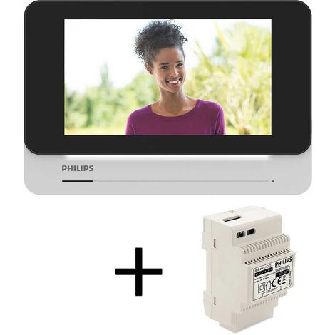 Moniteur DES9900 pour visiophone Welcome Eye Connect - Moniteur + Alimentation modulaire (Rail DIN)