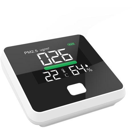 Monitor de calidad del aire PM2.5, analizador de gases, prueba de temperatura y humedad