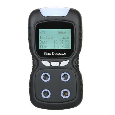 Monitor de CO 4 en 1, detector de monoxido de carbono y gas toxico, con alarma de luz de sonido