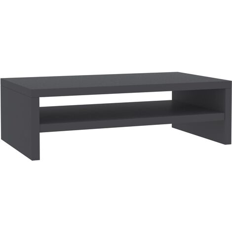 Monitor Stand Grey 42x24x13 cm Chipboard