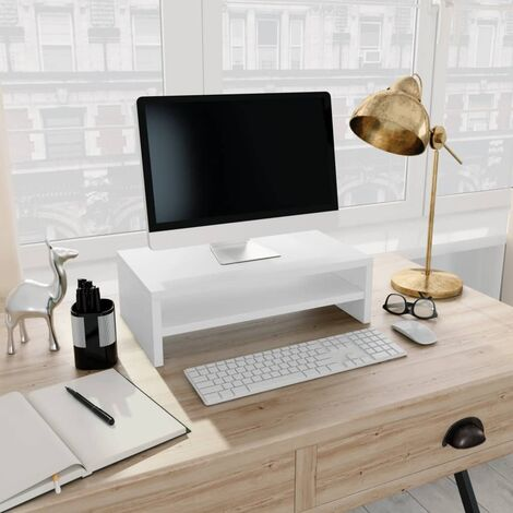 Monitor Stand White 42x24x13 cm Chipboard