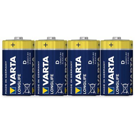 Mono-Batterie,VARTA, LONGLIFE, 4St.