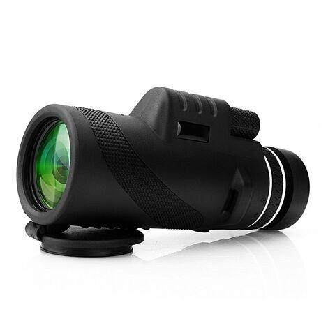 Monoculaire Télescope 40x60 Haute Puissance Zoomable Optique Vision Nocturne Basse Lumière Jumelles Anti-Brouillard/Pluie 500m/9500m