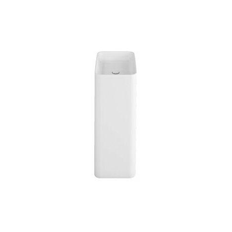 Monolito lavabo Bette Art sin agujero para grifo, A183 600 x 400 mm, color: Blanco - A183-000