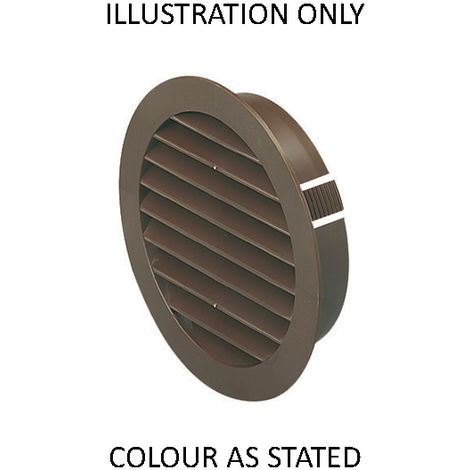 Monsoon 100mm Round Louvred Grille (F4804W)