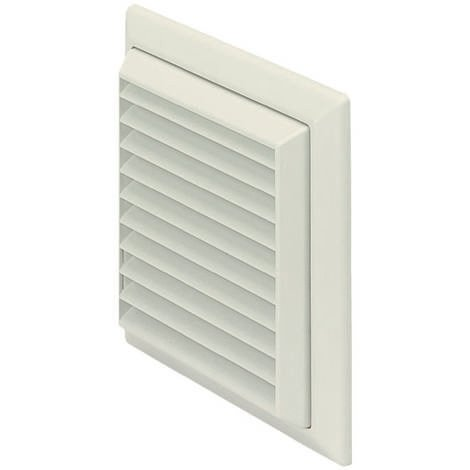 Monsoon 100mm Sq Louvred Grille / Flyscreen / Round Spigot (F4904W)
