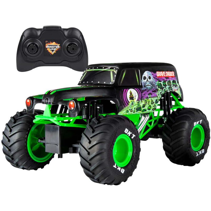 Image of Monster Jam Truck Grave Digger with RC 1:15 - Green