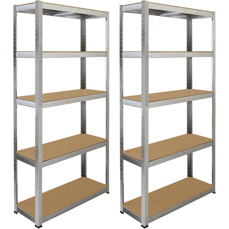 Monster Racking 2 x Galwix Galvanised Steel Shelves, 90cm Wide