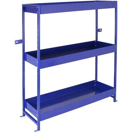 Monster Racking - Estantería Lighting Azul para Furgoneta de Acero Inoxidable con 3 Estantes 116,5cm x 115cm x 34,8cm