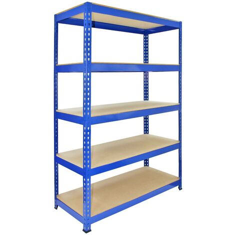 Monster Racking Q-Rax Boltless Garage Storage Shelves, 120cm W, 50cm D (Blue)