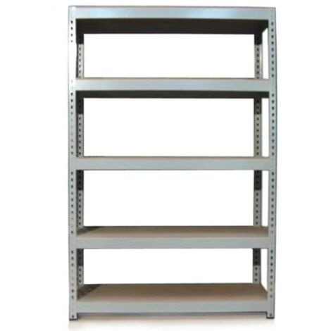Monster Racking Q-Rax Boltless Garage Storage Shelves, 120cm W, 50cm D (Grey)