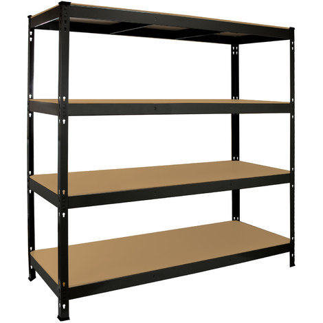 Monster Racking Q-Rax Heavy Duty Storage Shelving, 160cm W, 60cm D, Black or Grey