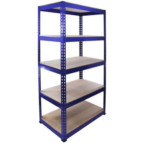 Monster Racking Q-Rax Steel Storage Shelving Bays, 90cm W, 50cm D (Blue)