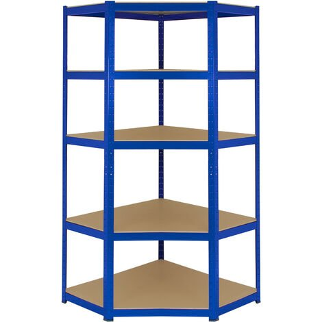 Monster Racking T-Rax Corner Storage Shelf Unit, Blue, 90cm Wide