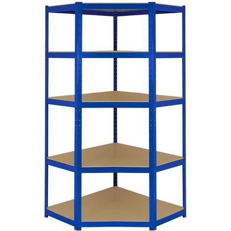 "main image of ""Monster Racking T-Rax Corner Storage Shelf Unit, Blue, 90cm Wide"""