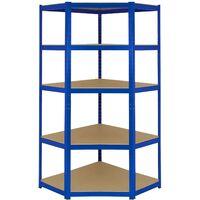 Monster Racking T-Rax Corner Storage Shelf Unit, Blue, 90cm Wide
