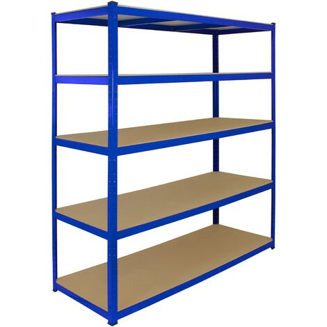 Monster Racking T-Rax Extra Wide Storage Shelves, Blue, 160cm W, 60cm D