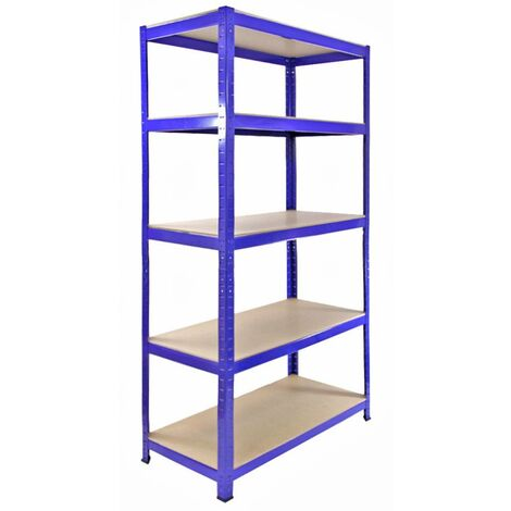 Monster Racking T-Rax Heavy Duty Garage Storage Shelves, 90cm W, 45cm D (Blue)