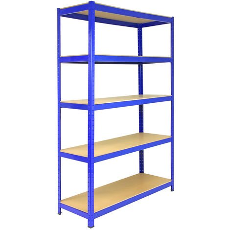Monster Racking T-Rax Strong Storage Shelves, Blue, 120cm W, 45cm D
