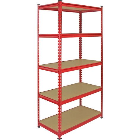 """main image of """"Monster Racking Z-Rax Extra Strong Steel Shelves, Red, 90cm W, 45cm D"""""""